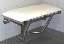 padded shower seat wall mounted