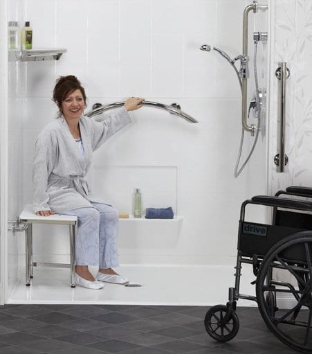 Using Shower Seat