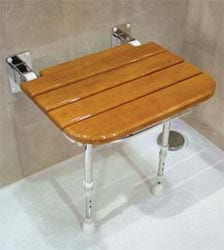 shower bench teak for handicapped