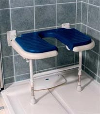 Fold Down Shower Commode Bench